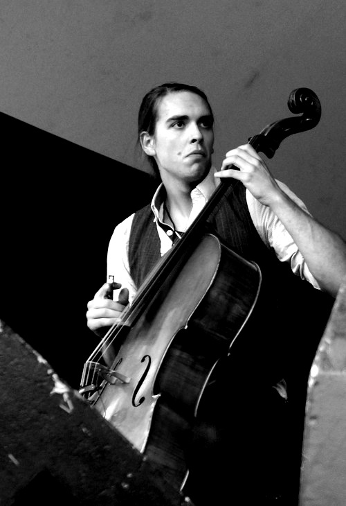 Nathaniel Smith of the Sarah Jarosz Band at Calgary Folk Music Fest 2012