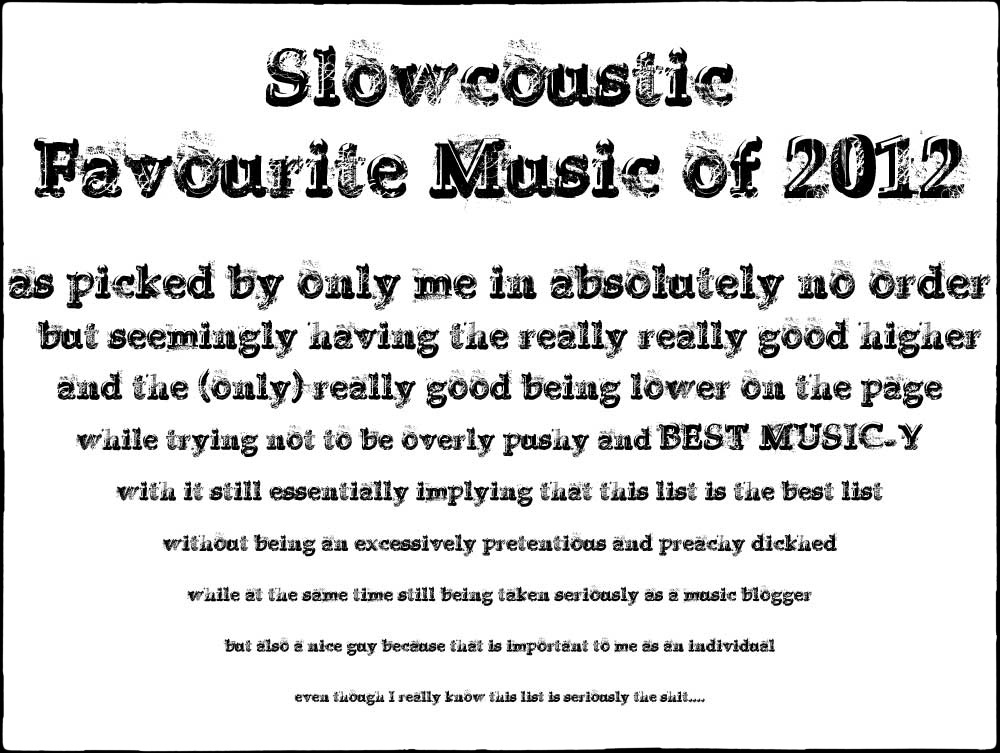Slowcoustic-Favourites 2012